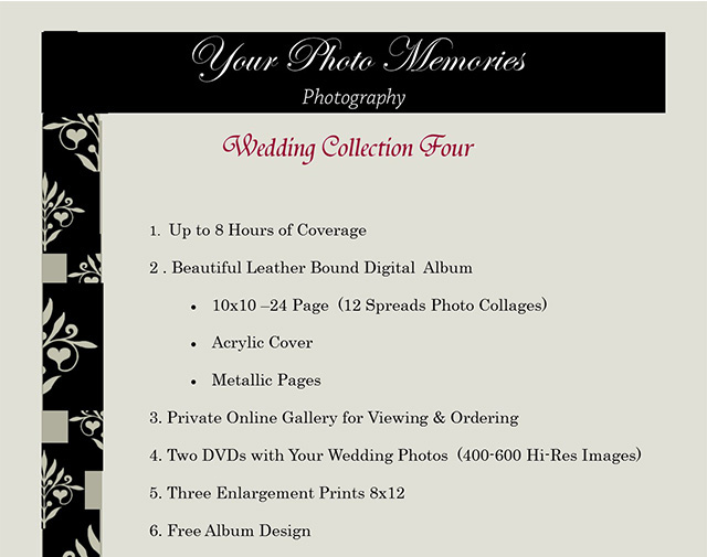 Your Photo Memories Photography Prices Packages 05